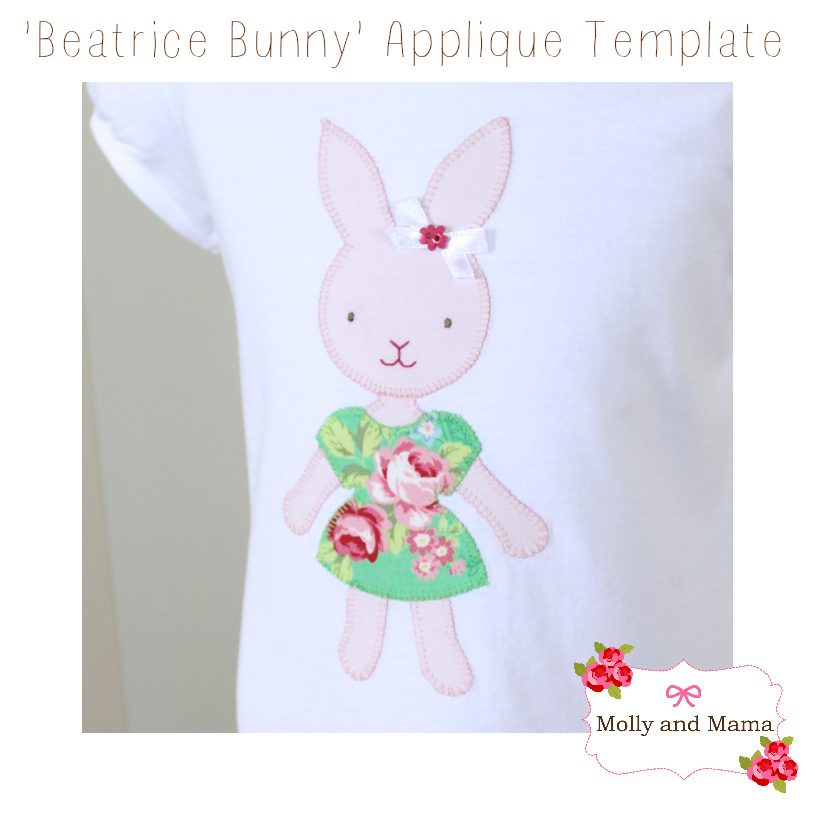 Introducing the beatrice bunny applique template molly and mama negle Gallery